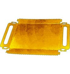 Bandeja Cartão Retângulo Ouro Alças 28,5x38,5 cm (200 Uds)