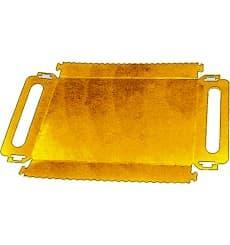 Bandeja Cartão Retângulo Ouro Alças 30x12 cm (600 Uds)