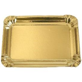 Bandeja de Cartão Rectangular Ouro 12x19 cm (1500 Uds)