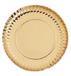 Prato de Cartão Redondo Ouro 210 mm (800 Uds)