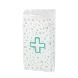 Saco de Papel Branco Farmácia 14+7x27 cm (1000 Uds)