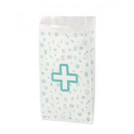 Saco de Papel Branco Farmácia 14+7x27 cm (125 Uds)