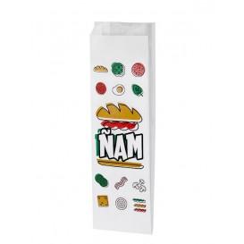 Saco Papel Sanduiche Ñam 10+4x29cm (125 Uds)