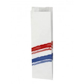 Saco Papel Sanduiche Listras 10+4x33cm (125 Uds)