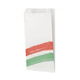 Saco de Papel Antigordura Listras 14x7x27 cm (1000 Uds)