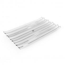 """Prato Degustação PS """"Bamboo"""" Transparente 10x6cm (50 Uds)"""
