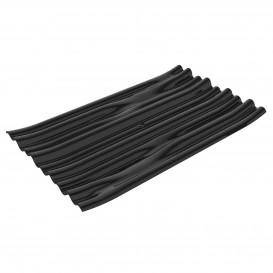 """Prato Degustação PS """"Bamboo"""" Preto 10x6cm (50 Uds)"""