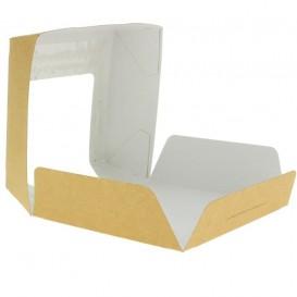 Caixa de Cartão Kraft com Janela 120x120x40mm (25 Uds)