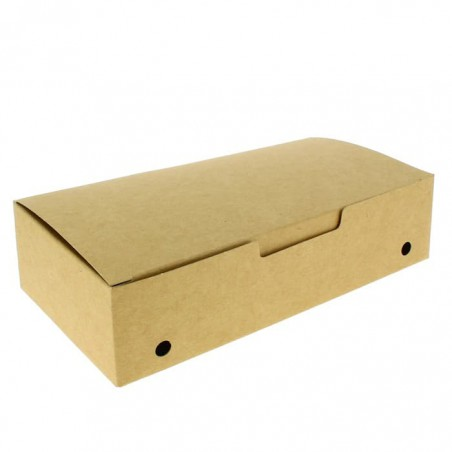 Caixa Take Away Grande Kraft 200x100x50mm (25 Uds)