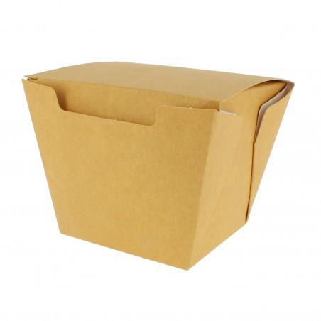 Embalagem Fechado TakeAway Wok Kraft 450ml (25 Uds)