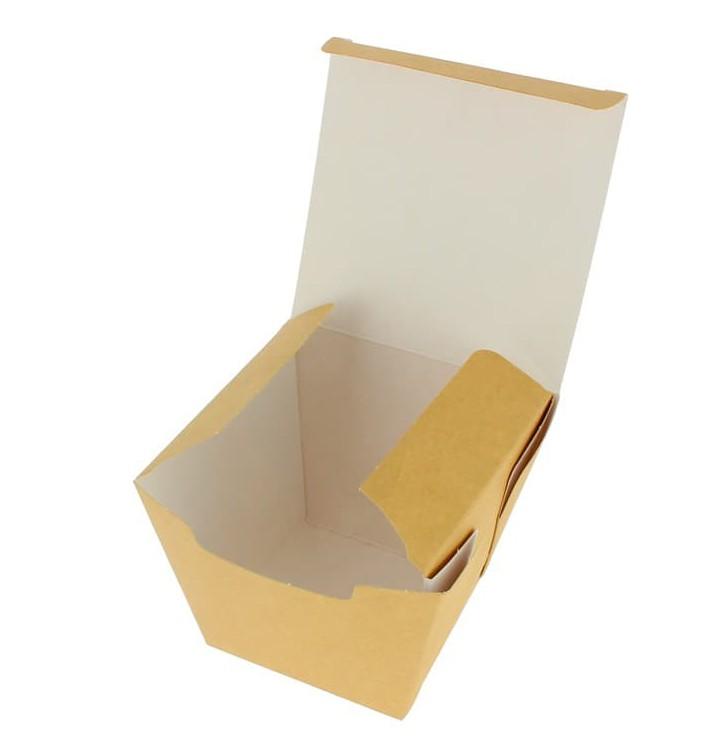 Embalagem Fechado TakeAway Wok Kraft 450ml (300 Uds)
