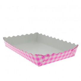 Bandeja Porta Waffle Aberta Rosa 18,2x12,2x3cm (500 Uds)
