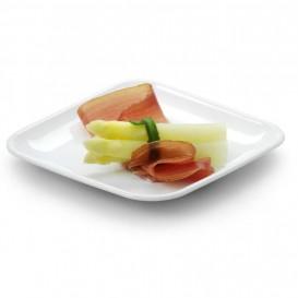 Mini Prato Cana de Açúcar Quadrado Branco 6,5x6,5cm (50 Uds)