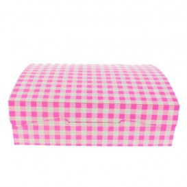 Caixa Pastelaria Rosa 18,2x13,6x5,2cm 500g (25 Uds)