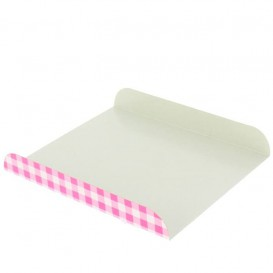 Bandeja Porta Waffle Rosa 15x13x2 cm (100 Uds)
