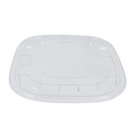 Tampa Plástico PET Transparente para Tigela 27x27cm (25 Uds)
