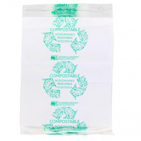 Saco Plastico 100% Biodegradável Mercado Block 30x40cm (300 Uds)