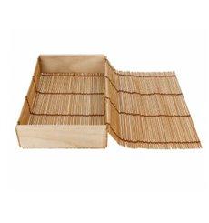 Embalagem de Bambu para sushi 23x13x4,5cm (24 Ud)