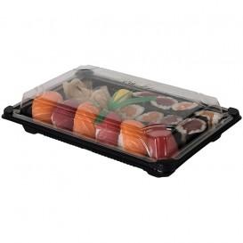 Embalagem com Tampa Sushi PLA Preto 13,0x18,0 cm (100 Uds)