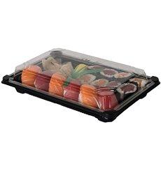 Embalagem para Sushi PLA Preto 13,0x18,0 cm (100 Uds)