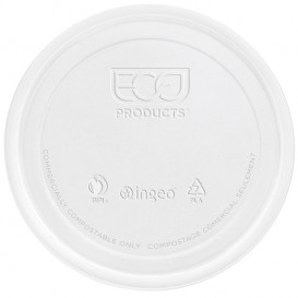 Tampa Embalagem Compostáveis PLA 235,355,470,940ml (500 Uds)