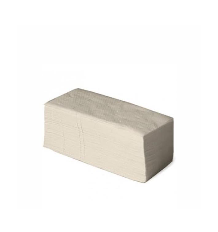 Toalha de Papel Seca Mãos Natural 1 Folha Z (4.560 Uds)