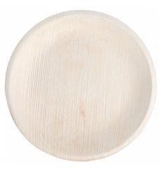 Prato de folha de palmeira 18,0 cm (25 Unidades)