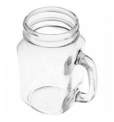 Caneja de Cristal com Tampa e Palinha 450 ml (24 Uds)