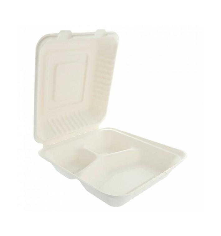 Embalagem Cana-de-açúcar Branco 3C 20x20x7,5cm (200 Uds)