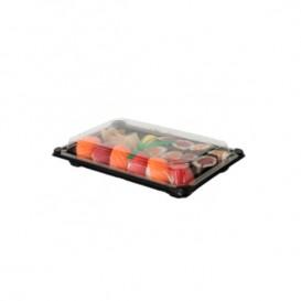 Embalagem com Tampa Sushi PLA Preto 15,0x23,0 cm (100 Uds)