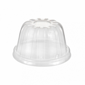 Tampa Alta Plastico PS Transparente Ø8,9cm (50 uds)