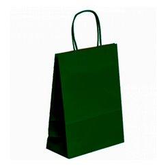 Saco Papel Kraft Verde com Asas 80g 20+10x29cm (250 Uds)