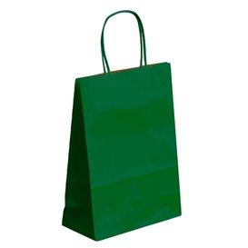 Saco Papel Kraft Verde com Asas 80g 26+14x32cm (50 Uds)