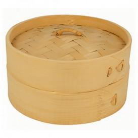 Panela Cozimento a Vapor Bambu com Tampa Ø15x8cm (1 Ud)