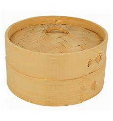 Panela Cozimento a Vapor Bambu com Tampa Ø15x8cm (100 Uds)