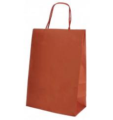 Saco Papel Kraft Vermelho com Asas 80g 20+10x29cm (250 Uds)