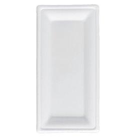 Bandeja Cana-de-açúcar Bagaço Branco 25,5x12,7 cm (500 Uds)