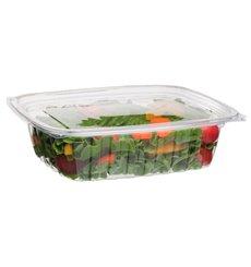 Embalagem Compostáveis PLA com Tampa 710ml (50 Uds)