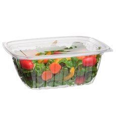Embalagem Compostáveis PLA com Tampa 940ml (200 Uds)