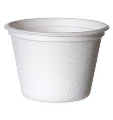 Copo Cana-de-açúcar Bagaço Branco 120ml (50 Uds)