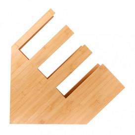 Organizador de Copo, Tampa e Palhinha de Bambu 14x50x50cm (1 Ud)