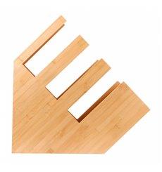 Organizador de Copo, Palhinhas e Tampa de Bambu 14x50x50cm (1 Ud)