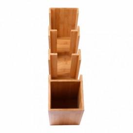Organizador de Copo, Tampa e Palhinha de Bambu 14x50x50cm (2 Uds)