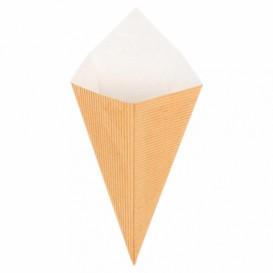 Cone Ondulado de Papel Kraft 220mm 100g (800 Uds)