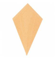 Cone Ondulado de Papel Kraft 220mm 100g (100 Uds)