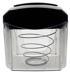 Dispensador Guardanapos ABS Preto 15,5x13,5x15,0cm (20 Uds)