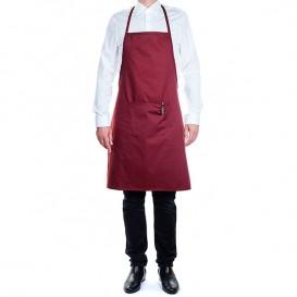 Avental peito e bolso Cinza com riscas Preto 75x90cm (1 Ud)