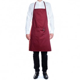 Avental peito e bolso Cinza com riscas Preto 75x90cm (20 Uds)