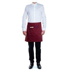 Avental peito e bolso Borgonha 75x50cm (20 Uds)