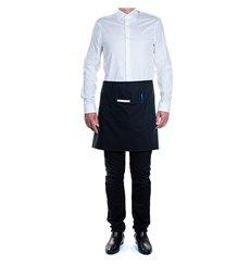 Avental peito e bolso Preto 75x50cm (20 Uds)